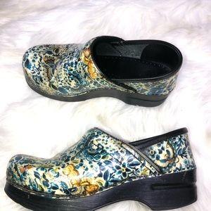 Dansko paisley printed shoes